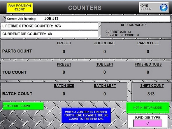 HYD Maximizer Counters Screen