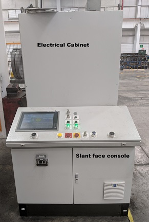 Electrical cabinet and Slant face console