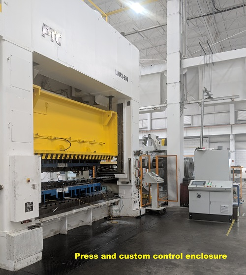 Press and custom control enclosure